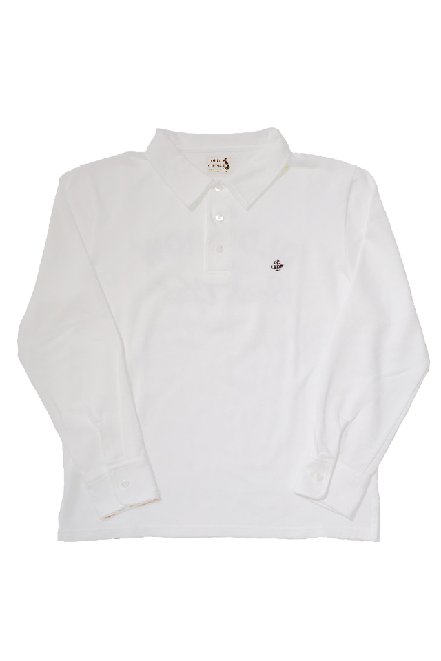 OLD CROW BOAT CLUB - L/S POLO SHIRTS WHITE