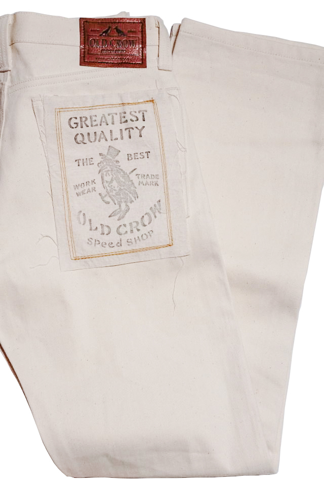 OLD CROW RODDER - PANTS IVORY RIGID