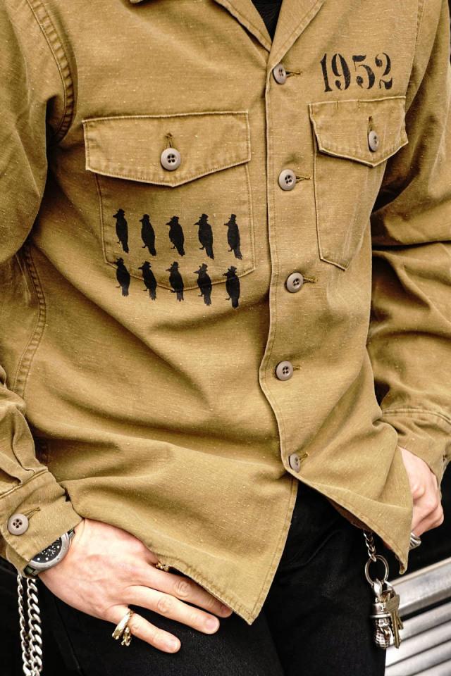 OLD CROW CROW STRIKE - L/S SHIRTS BEIGE