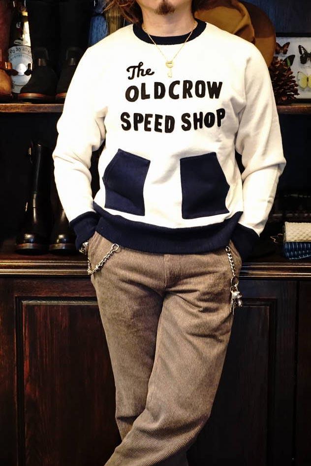 OLD CROW RODDER CLUB - SWEAT IVORY×NAVY