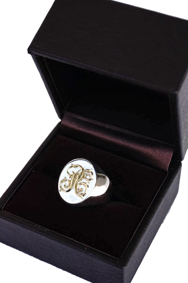 PEANUTS & Co. Signet ring Large K18Gold×Silver