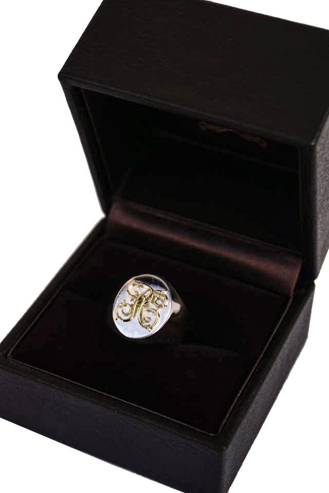 PEANUTS & Co. Signet ring Small K18Gold×Silver