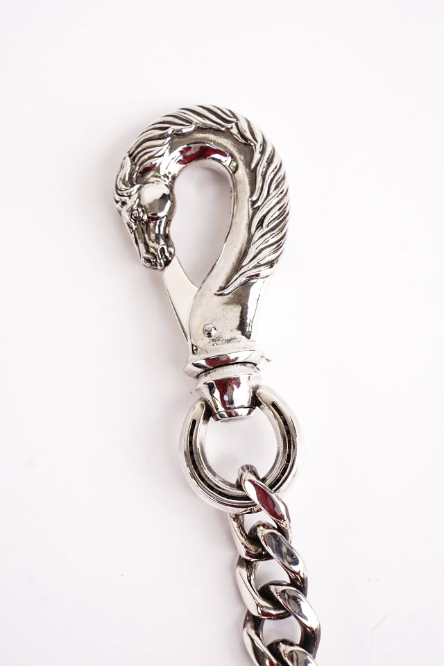 "PEANUTS & Co. Special Order horse key chain ""L"" silver"