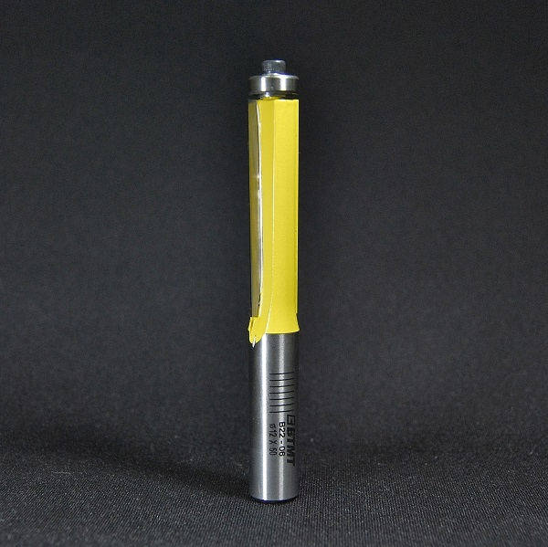 B22-06  12mm軸 ロングサイズのフラッシュトリムビット(傾斜刃)