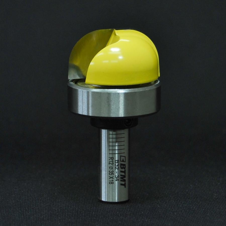 B32-34 刃径35mm 12R ディッシュビット(ベアリング付き)12mm軸  《送料無料》