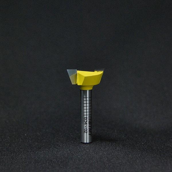 B34-02  刃径19mm 2枚刃 「アリ溝」ビット 6mm軸