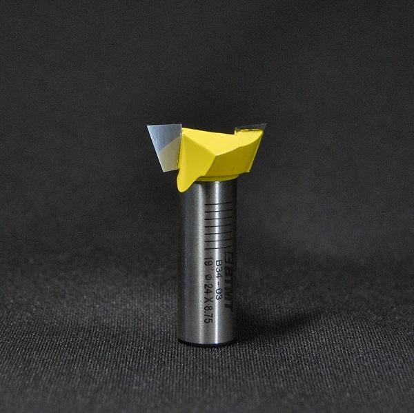 B34-03  刃径24mm 2枚刃 「アリ溝」ビット 12mm軸