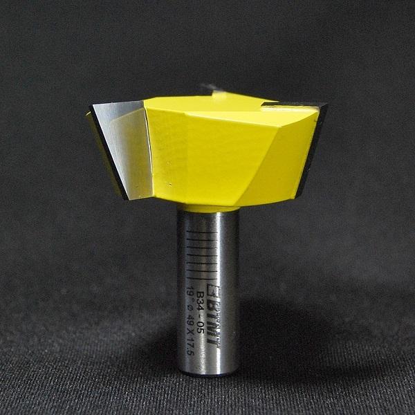 B34-05  刃径49mm 3枚刃「アリ溝」ビット12mm軸