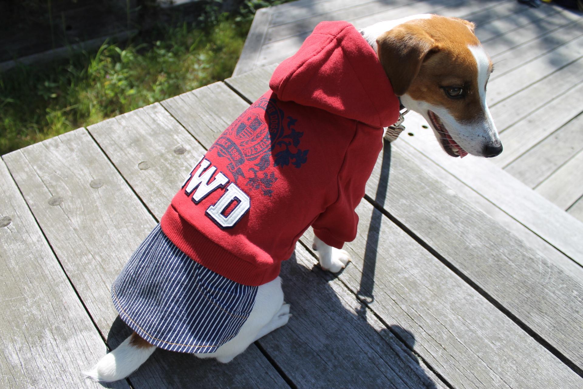 <犬と生活>60%OFF!お転婆ガールのアメリカンカジュアル☆カレッジワンピ