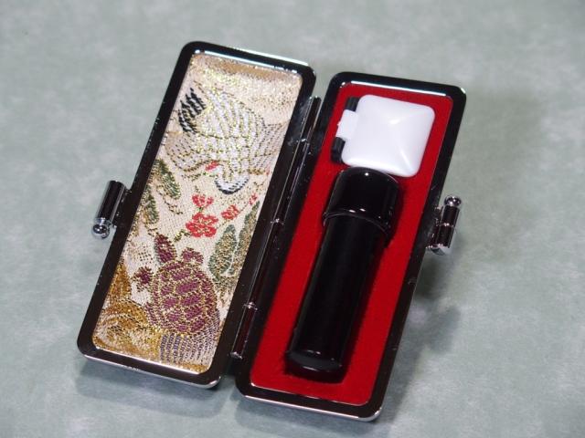 芯持ち黒水牛【手彫り】の実印  【13.5mm丸】 5年保証、専用ケース付きです!