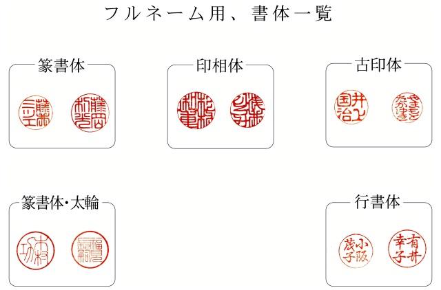 書体見本フルネーム2018拡大版