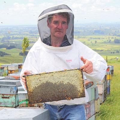 s_ニュージーランド巣枠と養蜂家