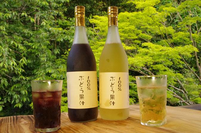 ワイナリーが作った100%ブドウ果汁(コンコード)