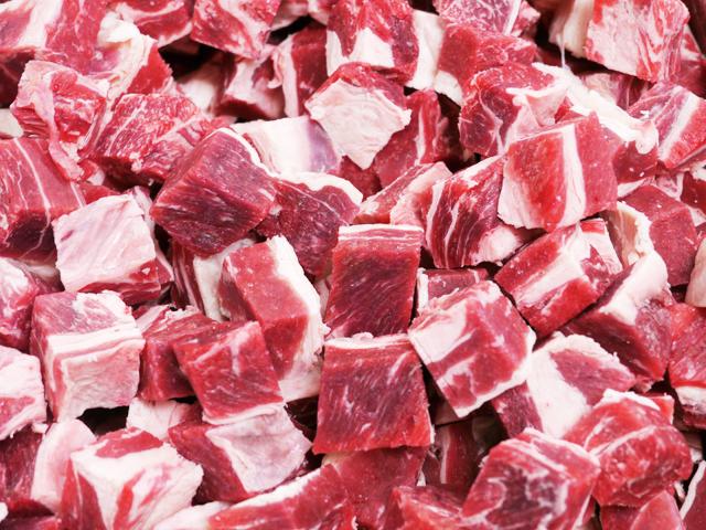 九州牧草牛 牛カレー・シチュー用角切り約2cm角 500g 冷凍(ビニル詰)