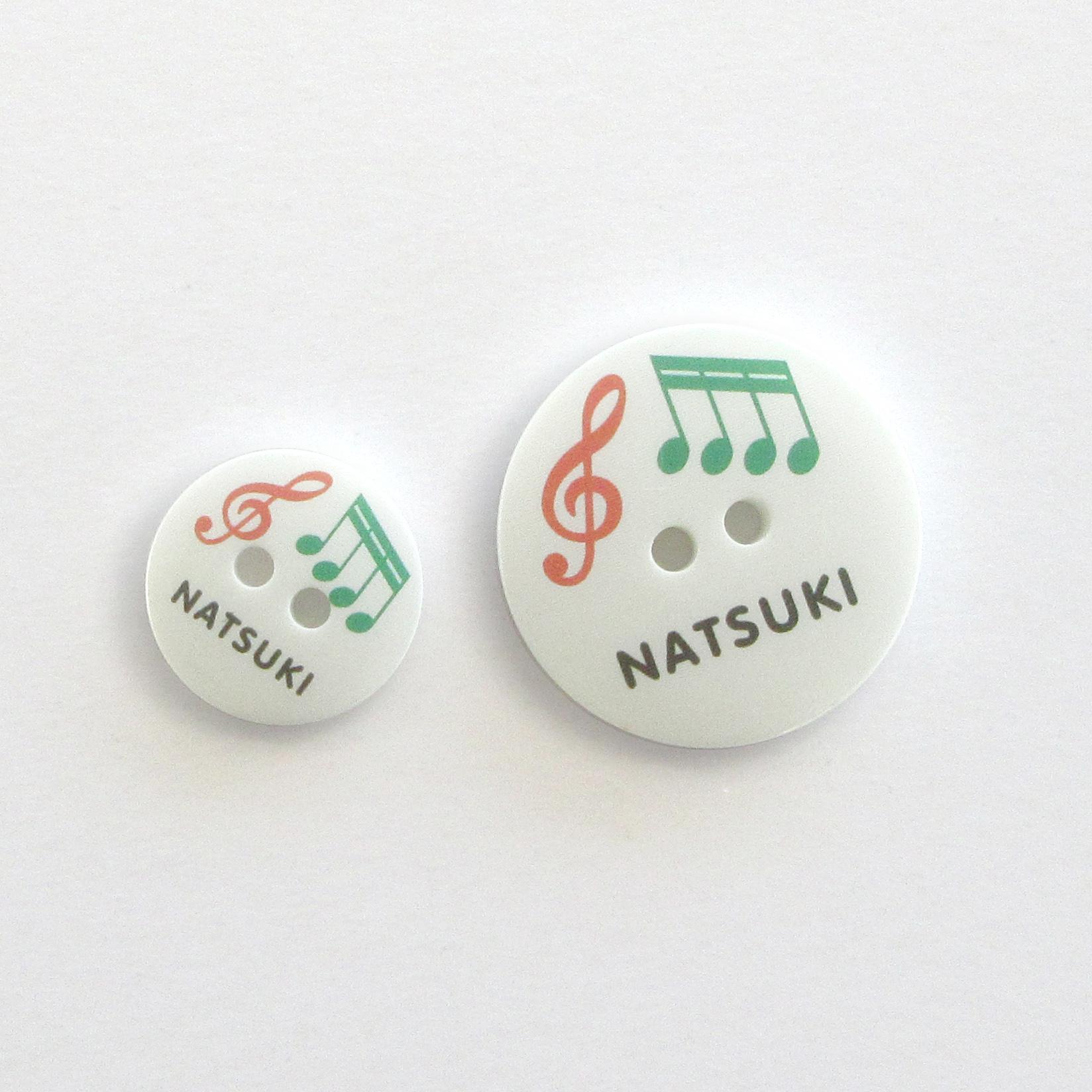 なまえのぼたん cute3-mix (3393) 音符 (12) 20個入り
