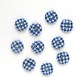 ギンガムチェック 1 【11.5mm】×10個セット 青×白(20)