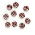 ギンガムチェック 2 【11.5mm】×10個セット ピンク×茶(22)