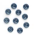 ギンガムチェック 2 【11.5mm】×10個セット 青×紺(24)