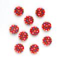 水玉 2 【11.5mm】×10個セット 赤×カラフル(27)