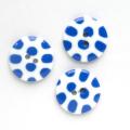 水玉 3 【25mm】×3個セット 青×白(30)