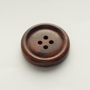 【木ボタン】WOOD 10 タライ型(30mm)