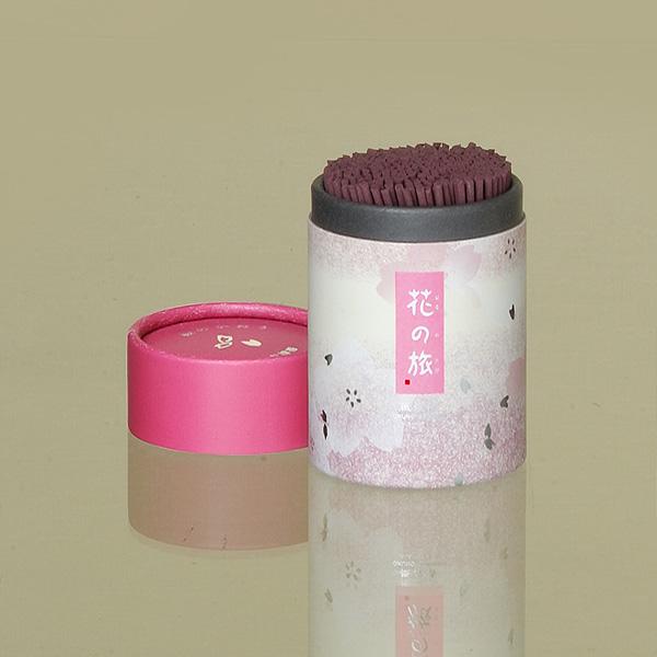 [花の旅]桜の香(ミニ) = かすかに桜の上品な香りが香る超微煙性線香・そのまま線香差しになるケース付き 送料無料