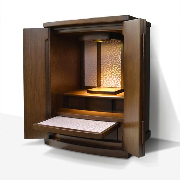 モダン上置仏壇 [イング]18号 ポプラ材 = 緞子がおしゃれな国産高品質仏壇