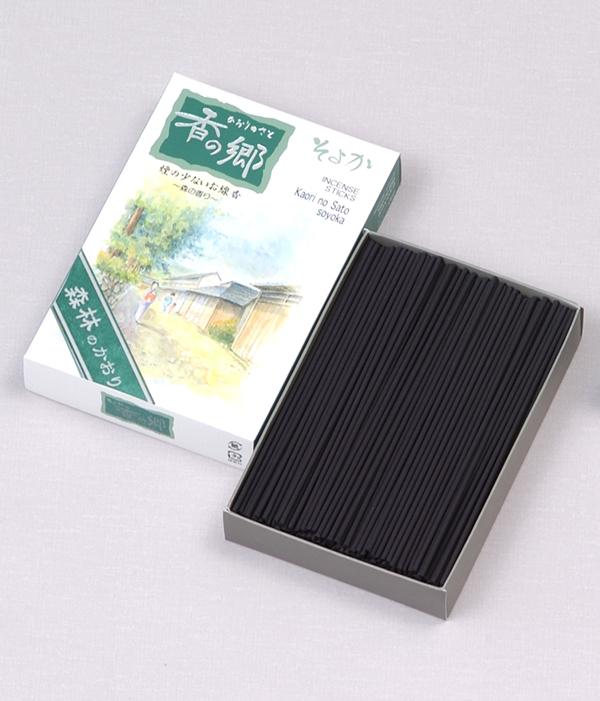 [香の郷] そよか 森林の香り(大) = 爽やかな森林の香りが清々しい微煙タイプのお線香 送料無料