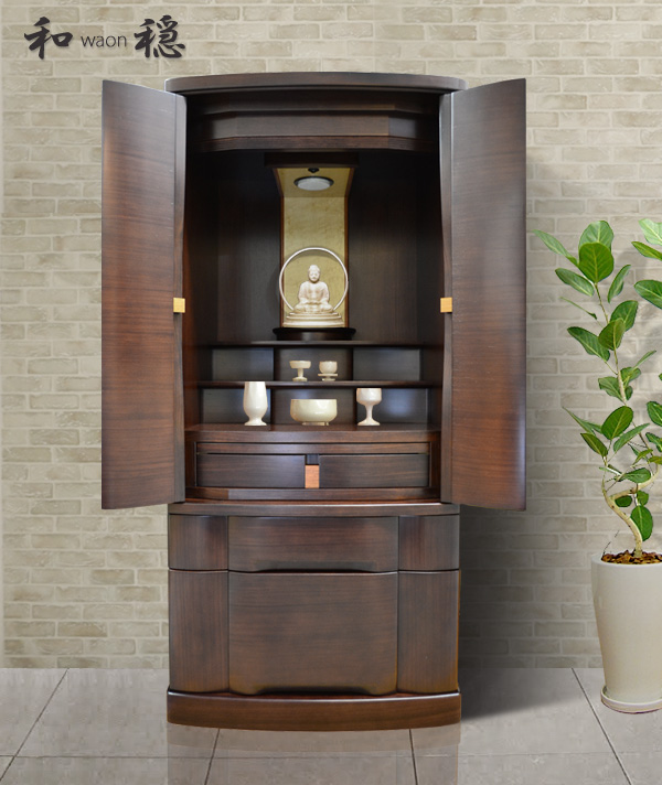モダン仏壇 [わおん] 18-40号 紫檀材 =  セルロースラッカー塗装で仕上げた格調高いモダン仏壇