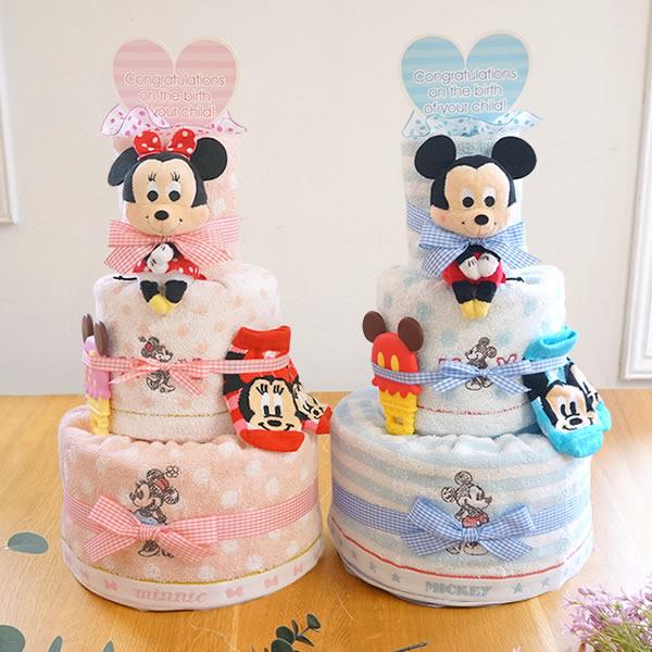 出産祝い女の子 ディズニーベビーおむつケーキ