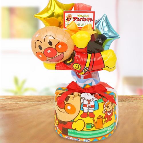 【おむつケーキ】アンパンマンバルーンおむつケーキ
