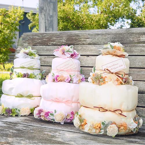 出産祝い女の子  ナチュール おむつケーキ