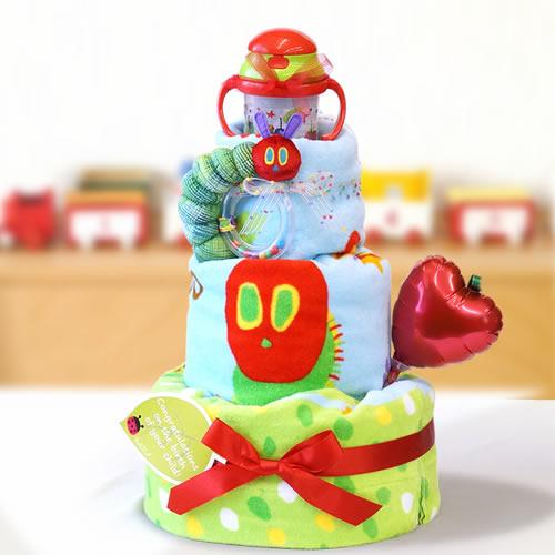 【おむつケーキ】はらぺこあおむしタオルケットおむつケーキ