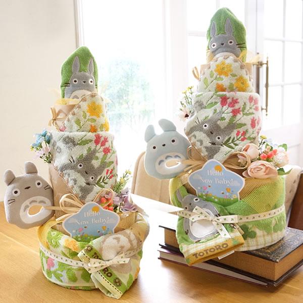 【おむつケーキ】トトロトリプルタワーおむつケーキ