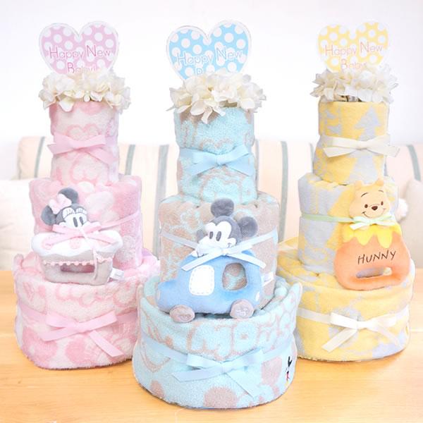 【おむつケーキ】ディズニーBabyタオルおむつケーキ