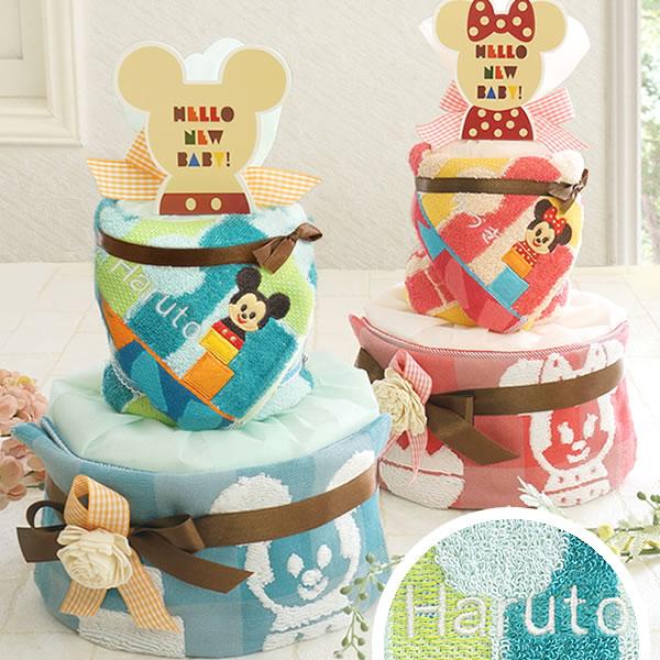 出産祝いにディズニーミッキーミニーおむつケーキ