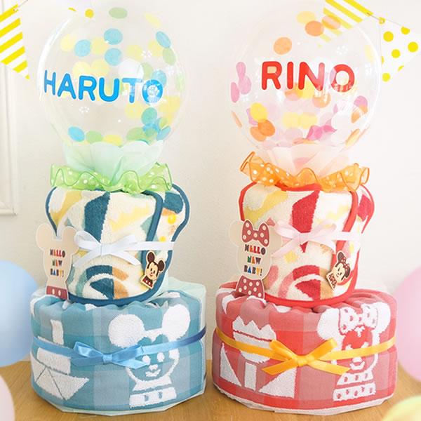【おむつケーキ】ディズニー KIDEA タオルビブおむつケーキ