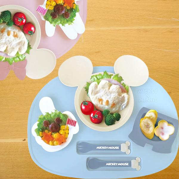 【出産祝い ベビー食器】ミッキー・ミニー アイコンランチプレート
