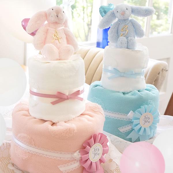【おむつケーキ】ジェリーキャットベベタオルおむつケーキ