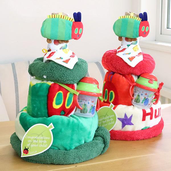 【おむつケーキ】はらぺこあおむし4wayおむつケーキ