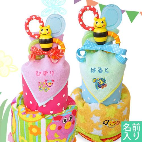 【おむつケーキ】Sassy(サッシー)バンブルバイツおむつケーキ_WS