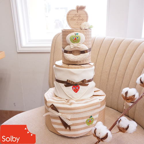 【おむつケーキ】Solby オーガニック おむつケーキ