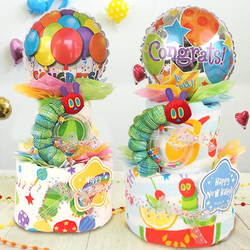 【おむつケーキ】はらぺこあおむし フルーツおむつケーキ