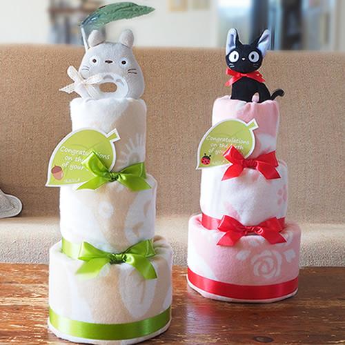 【おむつケーキ】トトロ&ジジ ブランケットおむつケーキ