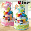 【おむつケーキ】Sassyウェルカムフレンズおむつケーキ