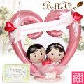 【バルーン電報】Bride and groom Heart Arrange-ブライド&グルーム ハートアレンジ- アレンジバルーン電報