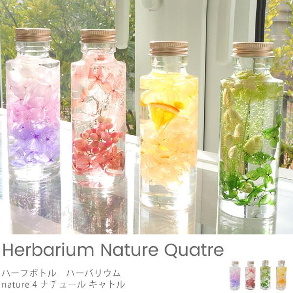 【ハーフボトル ハーバリウム】nature 4 ナチュール キャトル