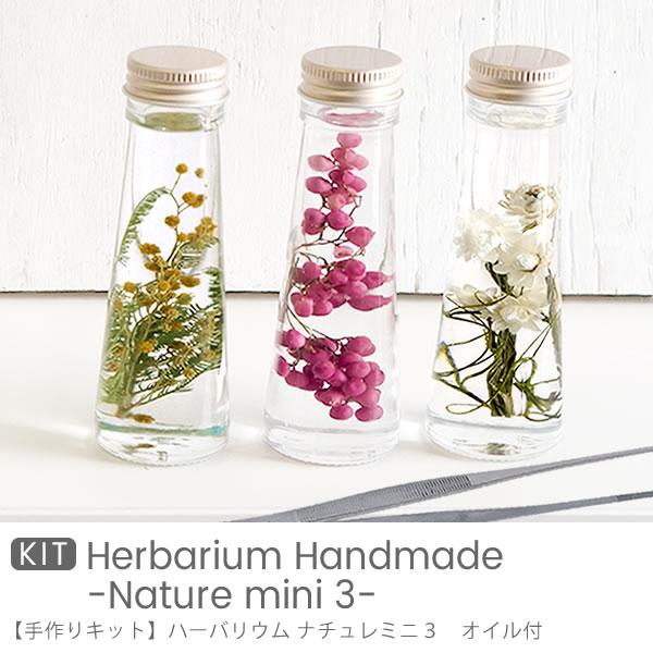 【ハーバリウム】手作りキット ナチュレ ミニ 3(3本セット)