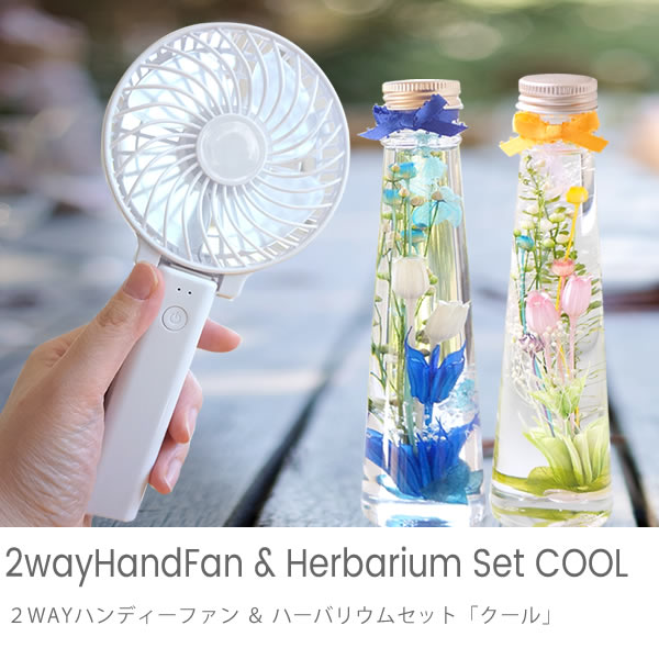 【ハーバリウム】2WAYハンディーファン&ハーバリウム「COOL」