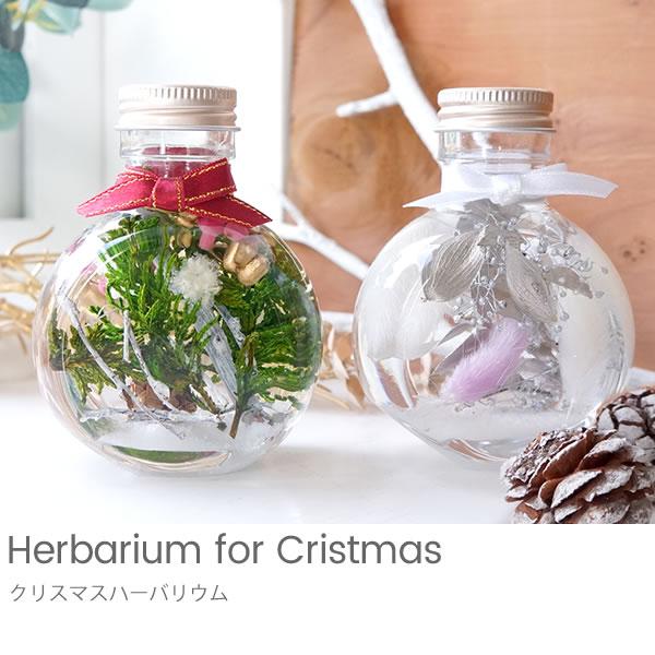 【ハーバリウム】クリスマスハーバリウム